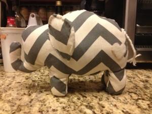 DIY stuffed elephant