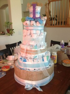 DIY Boy Diaper Cake