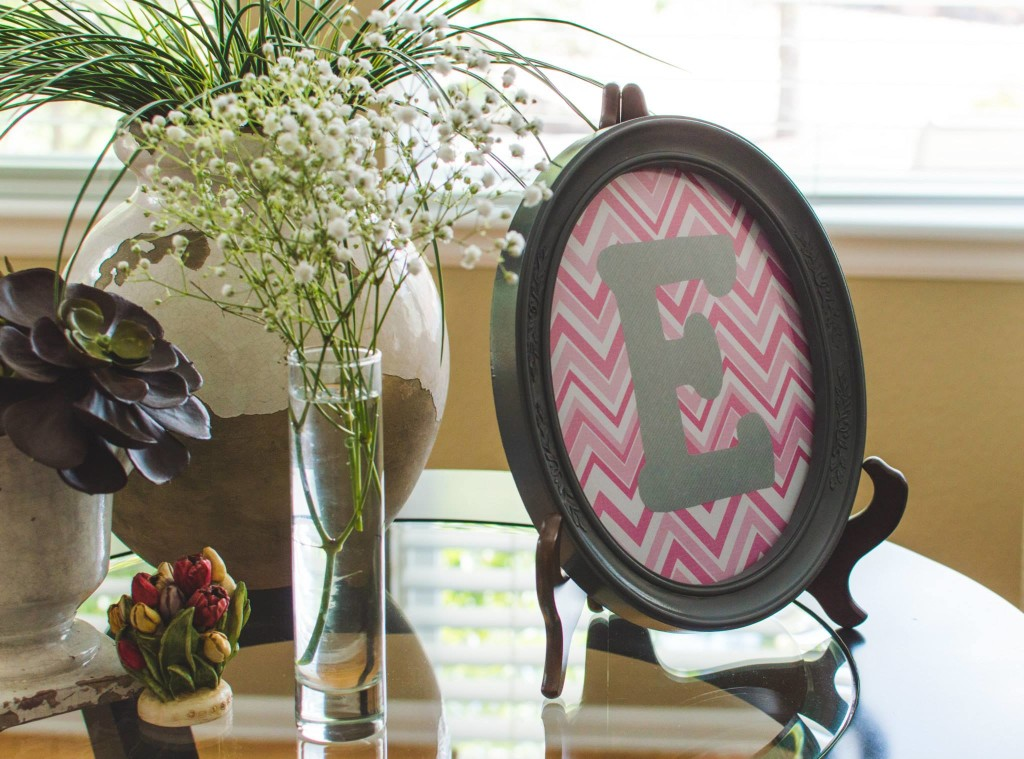 framed e  - Chevron Baby Shower