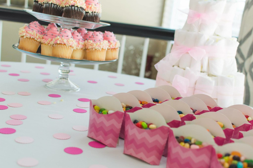 Dessert Table - Chevron Baby Shower