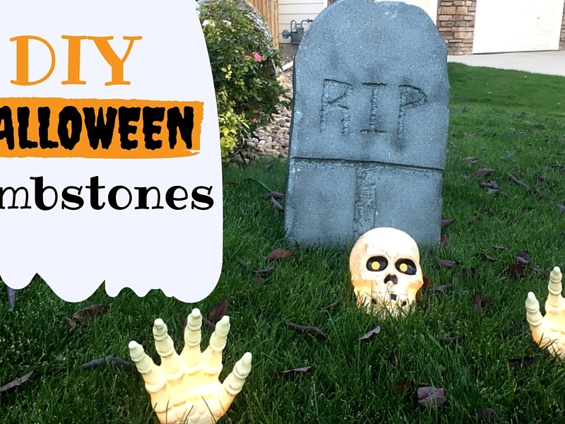 DIY Halloween Tombstones - Colorado Anne