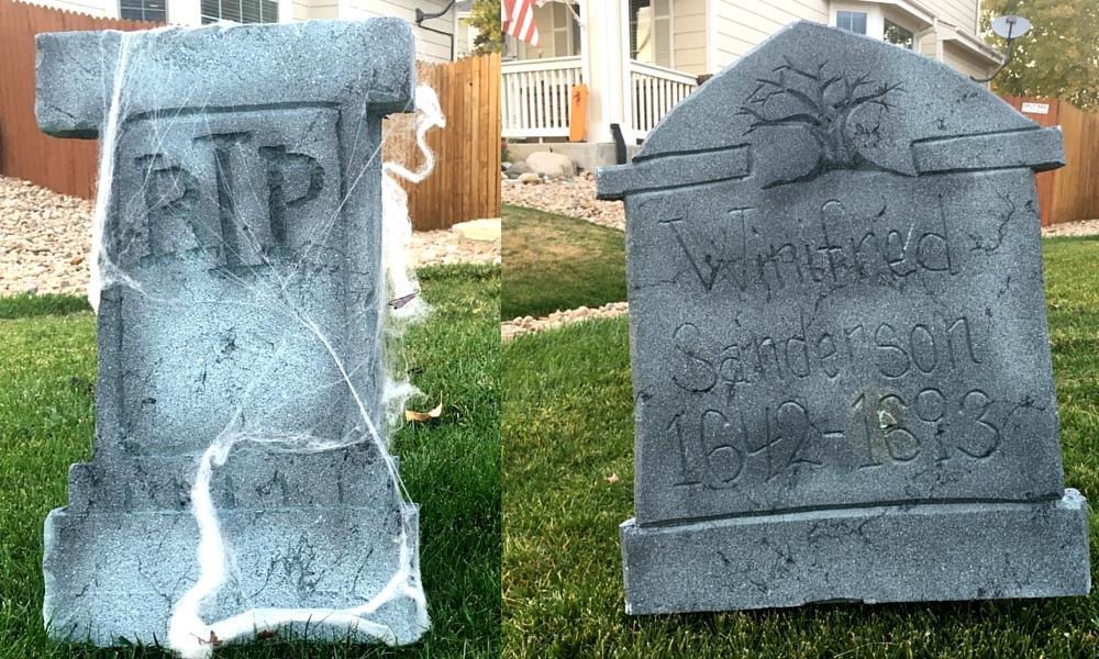 DIY Tombstones